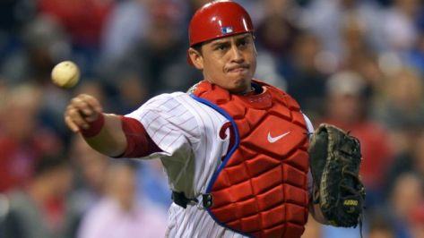 A resurgent Carlos Ruiz is expected to be behind the plate for the Phils in 2014