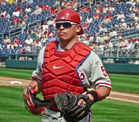 Carlos Ruiz brings a sizzling hot bat to the cleanup spot tonight