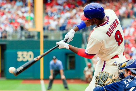 How long can Ryne Sandberg afford to stick with a struggling Dom Brown?