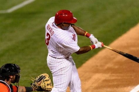 Marlon Byrd leads the Phils with 17 RBI's through 26 games.